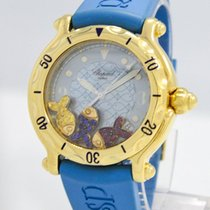 "Chopard ""Happy Sport"" Watch 18k Yellow Gold / 38mm"