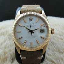 Rolex DATEJUST 1601 18K Pink Gold with Original White Dial