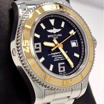 Breitling Superocean C17391 18k Rose Gold/ss 44mm Black Watch...