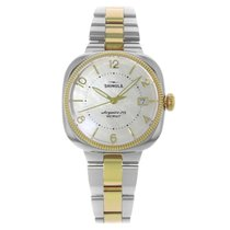 Shinola Gomelsky White MOP Steel Two Tone Ladies Watch -...