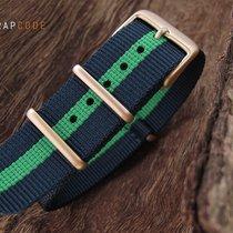 Strapcode G10 NATO Watch Strap, 260mm, IP Champagne, Gn Bl