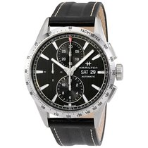 Hamilton Broadway Auto Chrono Grey Dial Leather Men's Watch
