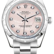 Rolex Datejust 31mm Stainless Steel 178344 Pink MOP Diamond...