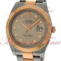 Rolex Datejust II 41mm, Silver Diamond Dial, Smooth Bezel -...