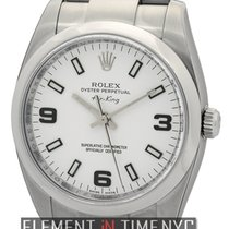 Rolex Air-King Stainless Steel White Dial 34mm