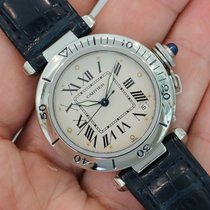 Cartier Pasha 35mm Stainless Steel Blue Strap Ref. 1030