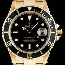 Ρολεξ (Rolex) 18k Yellow Gold Black Dial Submariner Date Gents...