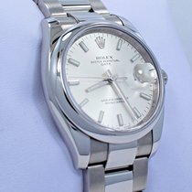 Rolex Date 115200 34mm Oyster Perpetual Silver Stick Dial...