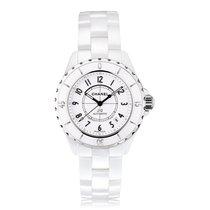 Chanel J12 38mm White Ceramic Ladies Watch H0970