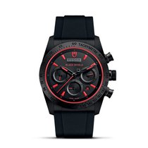 Tudor FASTRIDER BLACK SHIELD Automatic Red Chrono Leather...