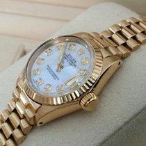 ロレックス (Rolex) Oyster Datejust Lady Yellow Gold Pearl Dial 26...