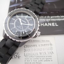 Chanel J12  (full set: papers, box) Automatic Black Ceramic 38 mm