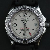 Breitling Colt Oceane Quartz Damen 32mm + Brillianten A77380...