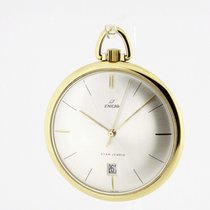 Enicar solid 18K Yellow Gold Pocket Watch Ultra Flat Cal....