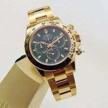 Rolex Daytona Gelbgold green dial unworn box and papers