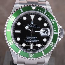 Rolex Submariner Date green 1st series Fat Four N.O.S. Full set