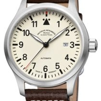 Mühle Glashütte Terrasport I Cream Dial-Brown Leather  Strap...