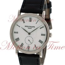 Patek Philippe Calatrava, White Lacquered Dial - White Gold on...