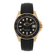 Rolex YACHT-MASTER 37 Everose Gold Black Ceramic Oysterflex