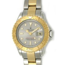 Rolex Used 69623_Grey Yacht-Master Ladies Small in 2-Tone - On...