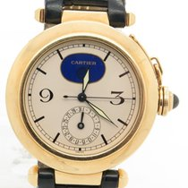 Cartier Pasha Solid 18k Yellow Gold Quartz Moonphase Watch Ref...