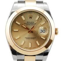 Rolex DateJust Two Tone 18kt Everose Gold/SS Bracelet-126301