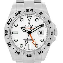 Rolex Explorer Ii Stainless Steel White Dial Mens Watch 216570