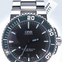 Oris Aquis Date 73376534137mb Green Bezel Diver On Bracelet