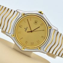 Ebel Classic Wave Two Tone Stainless Steel Champagne Dial...