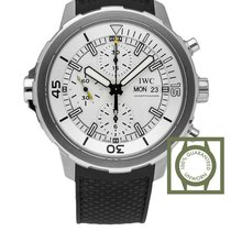 IWC Aquatimer Chronograph 44mm Silver Dial Black Rubber NEW