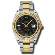 Rolex Datejust II 41mm - Steel and Gold Yellow Gold - Fluted...