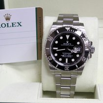 Rolex Submariner Ceramic 116610 Black Stainless Steel Box...