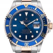Rolex Submariner Date Stahl Gelbgold Keramik Blau Automatik...