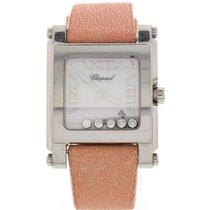 Chopard Happy Sport Stainless Steel Floating Diamonds Watch...