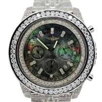 Breitling For Bentley Men's Black Mother Of Pearl Dial...