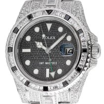 Rolex GMT-Master II Steel Full Custom Diamond Set Watch 116710LN