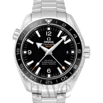 Omega Seamaster Planet Ocean 600M GMT Black Steel 43.5mm -...