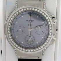 Hublot Elegant Chronograph Stainless Steel Diamonds