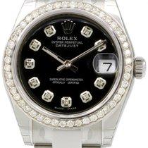 Rolex Datejust 178240 31mm Midsize Custom Diamond Black...
