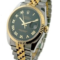 Rolex Used 116233_black_roman_used Mens 2-Tone DATEJUST with...