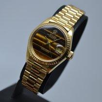 Rolex Datejust 18K Gold President Tiger Eye Dial 1 year warranty