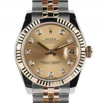 Rolex Datejust Medium Stahl Gelbgold Diamond Automatik Armband...