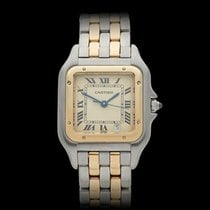 Cartier Panthere Stainless Steel & 18k Yellow Gold Unisex...