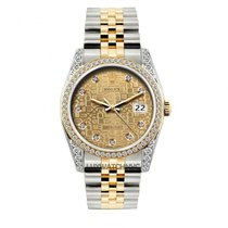 Rolex Datejust Men's 36mm Jubilee Dial Gold And Stainless...