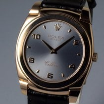Rolex Cellini 5330/5 - 18k Rose Gold Dark Gray with Gray Croc...