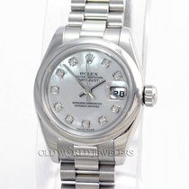 Rolex Lady President Datejust 179166 Platinum MOP Diamonds