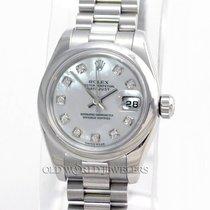 Rolex Lady President Datejust 179166 Platinum MOP Diamonds