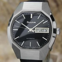 Bulova Mens Vintage 1970s Automatic Day Date Swiss Stainless...