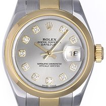 Rolex Ladies Datejust 2-Tone Watch 179163 Steel Dial