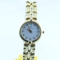 Maurice Lacroix Calypso Damen Uhr Stahl Vergoldet Quartz 25mm